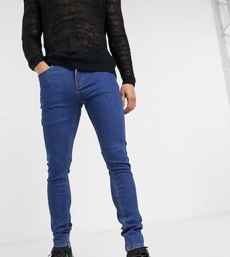 Heart N Dagger super skinny jeans in mid blue wash