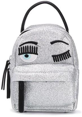 Chiara Ferragni winking eye glittered backpack