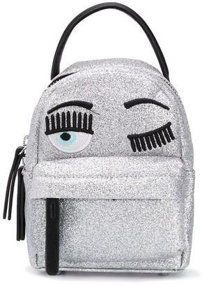 Chiara Ferragni Winking Eye Glittered Backpack