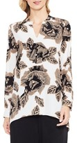 Vince Camuto Women's Long Sleeve Floral Tunic