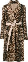 Yves Salomon leopard print coat - women - Goat Skin/Lamb Nubuck Leather - 36