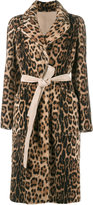 Yves Salomon leopard print coat - women - Goat Skin/Lamb Nubuck Leather - 38