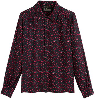 Vanessa Seward X La Redoute Collections Cotton Mix Shirt in Cherry Print