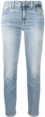 7 For All Mankind Cropped Skinny-Fit Jeans