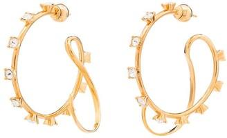 Panconesi Crystal Embellished Hoop Earrings