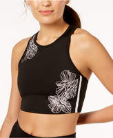 Calvin Klein Floral Medium-Support Bra Cropped Tank Top