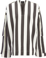 Wide Stripe Shirting Denver Blouse