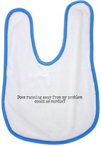 Fotomax baby bib with Does running away from my problem count as cardio?