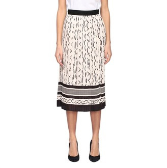 Elisabetta Franchi Skirt Pleated Skirt With Chain Print