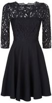 Claudie Pierlot Rhodes Lace Insert A-Line Dress