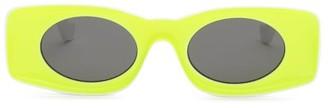 Loewe Paula's Ibiza - Rectangular Acetate Sunglasses - Yellow