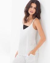 Soma Intimates Pajama Cami With Lace Itsy Bitsy Dot Ivory