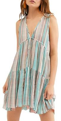 Free People Freebird Striped Mini Dress