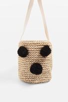 Topshop POLLY Straw Bucket Bag