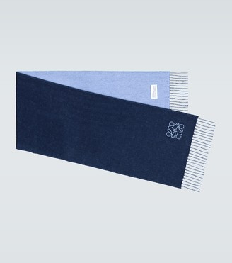 Loewe Bicolored wool and cashmere scarf