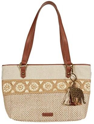 Sakroots Artist Circle Small Satchel (Tobacco Batik World) Satchel Handbags