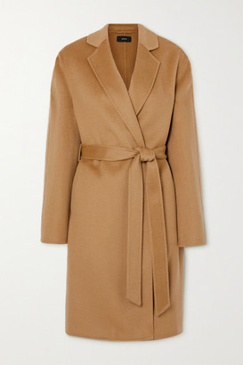 Joseph Cenda Belted Wool And Cashmere-blend Coat - Camel