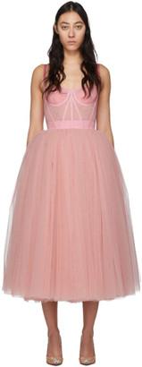 Dolce & Gabbana Pink Tulle Bustier Dress