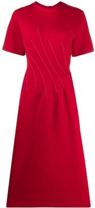 Marni Stitching Details Midi Dress