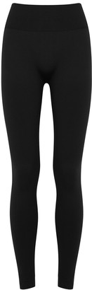 Wolford Perfect Fit Black Stretch-jersey Leggings
