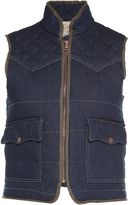 See by Chloe Faux-shearling Quilted Denim Vest Coat