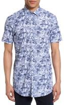 Sand Men's Floral Print Sport Shirt
