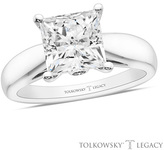 Zales Tolkowsky® Legacy 3 CT. T.W. Certified Princess-Cut Diamond Solitaire Engagement Ring in 14K White Gold (I/SI2)
