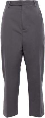 Rick Owens Cropped Cotton-blend Tapered Pants