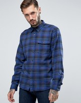 Patagonia Shirt In Check Flannel Regular Fit Navy
