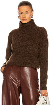 The Elder Statesman Heavy Oversized Turtleneck Sweater in Cigar   FWRD