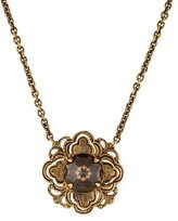 Stephen Dweck Smoky Quartz Flower Pendant Necklace