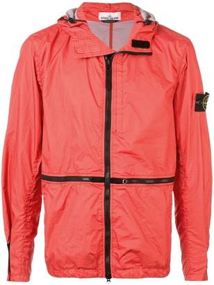 Stone Island Contrast-Trim Zipped Jacket