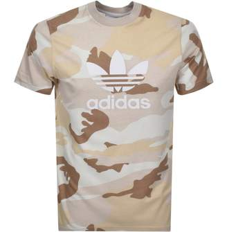 adidas Trefoil T Shirt Brown