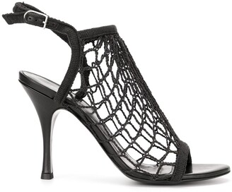 Sonia Rykiel Fishnet Heeled Sandals