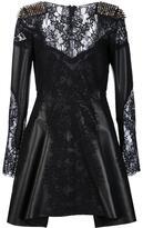Philipp Plein lace panel mini dress
