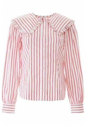 Ganni Pink Cotton Top for Women