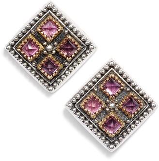 Konstantino Trillion Stone Stud Earrings