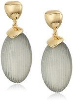 T Tahari Gold Grey Drop Earrings