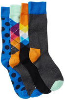 Happy Socks Assorted Sock Gift Box - Pack of 4