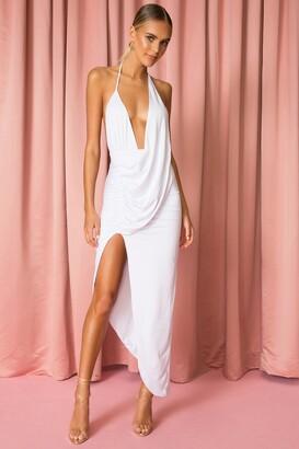 superdown Mia Drape Slit Dress