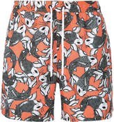 The Upside Sea of Koi swim shorts