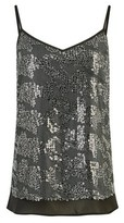Dorothy Perkins Womens Silver Sequin Camisole Top, Silver
