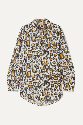 Marios Schwab On The Island By Ransvik Leopard-print Cotton-voile Shirt - Leopard print