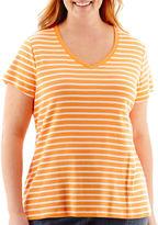 St. John's Bay Short-Sleeve V-Neck T-Shirt - Plus