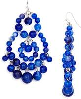 Aqua Beaded Chandelier Earrings - 100% Exclusive