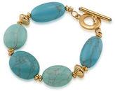 Lauren Ralph Lauren Paradise Found Reconstituted Turquoise 14K Goldplated Bracelet