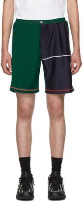 Ahluwalia Green Over Stitch Shorts