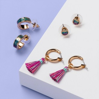 Girl' 3pk Rainbow Earring with Tael et - More Than MagicTM