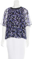 Kate Spade Floral Print Silk Top