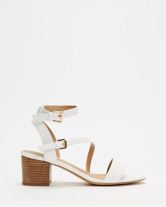 Spurr Women's White Mid-low heels - Alessia Heels - Size 6 at The Iconic